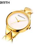 baratos Relógios de Pulseira-REBIRTH Mulheres Relógio de Pulso Quartzo 30 m Impermeável Aço Inoxidável Banda Analógico Casual Fashion Elegante Prata / Dourada / Ouro Rose - Dourado Prata Ouro Rose