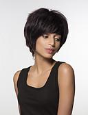 tanie Kwarcowy-Ludzkie Włosy Capless Peruki Włosy naturalne Water Wave Część Boczna Krótki Tkany maszynowo Peruka Damskie