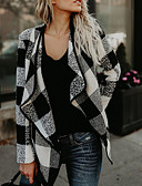 cheap Women's Coats & Trench Coats-Women's Vintage Street chic Coat-Plaid