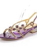 preiswerte Damen Hosen-Damen Schuhe Polyurethan Frühling / Sommer Modische Stiefel Sandalen Offene Spitze Strass / Kristall / Glitter Gold / Schwarz / Purpur