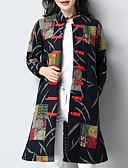 olcso Női hosszú kabátok és parkák-Női Alkalmi Kínai Pamut Kosaras - Nyomtatott