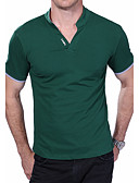 cheap Men's Tees & Tank Tops-Men's Active Plus Size Cotton Slim Polo - Solid Colored Stand / Short Sleeve
