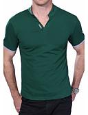 tanie Męskie koszulki polo-Puszysta Polo Męskie Aktywny Bawełna Kołnierz stawiany Szczupła - Solidne kolory / Krótki rękaw