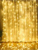 halpa Miesten t-paidat ja hihattomat paidat-4m Koristevalot 300 LEDit Dip Led Lämmin valkoinen / Kylmä valkoinen / Sininen Yhdistettävä 220-240 V 1kpl / IP65
