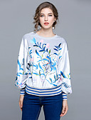 cheap Women's Shirts-Women's Going out Vintage Puff Sleeve T-shirt - Floral Floral / Oversized