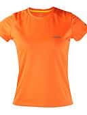 billige Løbetøj-Arsuxeo Dame Rund hals Løbe-T-shirt - Orange, Lysegul, Himmelblå Sport Toppe Kortærmet Sportstøj Hurtigtørrende, Anti-statisk, Åndbart
