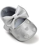 olcso Kislány ruhák-Lány Cipő Bőrutánzat Tavasz / Ősz Kényelmes / Első cipő / Puhatalpú cipő Lapos Csokor / Átlátszó ragasztószalag mert Fukszia / Piros /