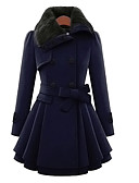 cheap Women's Coats & Trench Coats-Women's Simple / Casual Coat - Solid Colored, Stylish