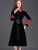 お買い得  スカート-女性用 ロング トレンチコート - モダンシティ ストリートファッション シャツカラー カラーブロック クラシック スタイリッシュ