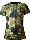 tanie Suknie i sukienki damskie-Męskie Krótki rękaw Koszulka rowerowa - Szary + biały Kamuflaż Ciemnozielony Kamuflaż Rower T-shirt, Szybkie wysychanie Poliester / Wysoka elastyczność
