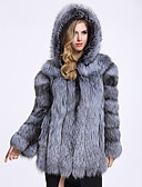cheap Women's Fur & Faux Fur Coats-Long Sleeve Faux Fur Wedding / Party / Evening Women's Wrap With Cap Coats / Jackets
