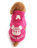 preiswerte Damen Nachtwäsche-Hund Kapuzenshirts Hundekleidung Cartoon Design Schwarz Rose Polar-Fleece Kostüm Für Haustiere Herrn Damen Niedlich warm halten