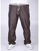 זול מכנסיים ושורטים לגברים-בגדי ריקוד גברים משוחרר צ'ינו מכנסיים אחיד / סוף שבוע