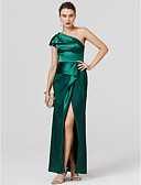 cheap Women's Dresses-Sheath / Column One Shoulder Floor Length Satin Open Back / Celebrity Style Cocktail Party / Formal Evening Dress with Split Front by TS Couture®