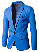 cheap Men's Shirts-Men's Cotton Slim Blazer - Solid Colored