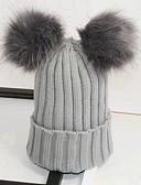 hesapli Kadın Şapkaları-Unisex Parti / İş / Actif Bere / Sarkık / Bere Şapka - Örgülü, Solid / Sevimli / Sonbahar / Kış