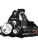 cheap Cycling Jersey & Shorts / Pants Sets-Headlamps Bike Light Headlight LED Cree® XM-L T6 3 Emitters 3000 lm 4 Mode with Batteries and Chargers Waterproof Impact Resistant Rechargeable Camping / Hiking / Caving Everyday Use Police / Military
