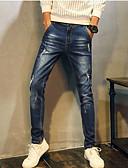 זול מכנסיים ושורטים לגברים-בגדי ריקוד גברים פעיל ג'ינסים מכנסיים חור, אחיד