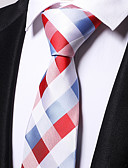 cheap Men's Ties & Bow Ties-Men's Work Necktie - Plaid / Checkered
