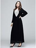 זול שמלות נשים-מותניים גבוהים אחיד - שמלה עבאיה בגדי ריקוד נשים