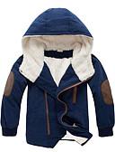 cheap Boys' Jackets & Coats-Kids Boys' Casual Color Block Long Sleeve Long Cotton Down & Cotton Padded