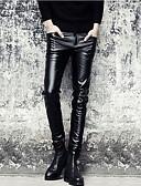 billige Herrebukser og -shorts-Herre Punk & Gotisk Skinny Chinos Bukser Ensfarget