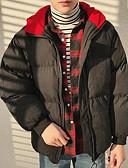 ieftine Blazer & Costume de Bărbați-Bărbați Zilnic Mată Parka, Bumbac Manșon Lung Negru / Gri Deschis L / XL / XXL