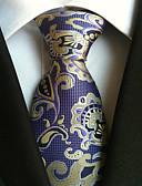 זול חולצות לגברים-עניבת צווארון - פרחוני עבודה / יום יומי בגדי ריקוד גברים
