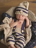 olcso Bébi Fiúknak ruházat-Baba Fiú Egyszerű Nyomtatott Ujjatlan Pamut / Bmbuszrost Ruházat szett