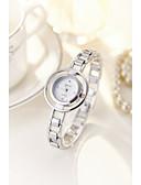 preiswerte Quartz-Damen Armband-Uhr / Simulierter Diamant Uhr Chinesisch Wasserdicht / Imitation Diamant Legierung Band Retro / Armreif / Modisch Silber / Gold
