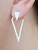 cheap Plus Size Dresses-Women's Stud Earrings Front Back Earrings / Ear Jacket - Statement, Vintage, Fashion Gold / Silver For Club Bar