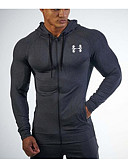 cheap Sport Watches-Men's Sports Long Sleeve Hoodie - Solid Colored Hooded