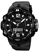 cheap Mechanical Watches-SKMEI Men's Sport Watch Chinese Calendar / date / day / Water Resistant / Water Proof / Three Time Zones PU Band Luxury / Casual / Fashion Black / Stopwatch / Noctilucent
