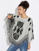 cheap Women's Sweaters-Women's Long Sleeve Cotton Pullover Print / Fall