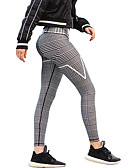 cheap Leggings-Women's Sports Weekend Casual/Daily Stitching Print Legging - Solid Colored Striped