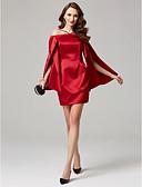 preiswerte Brautjungfernkleider-Eng anliegend Schulterfrei / Y-Ausschnitt Kurz / Mini Satin Cocktailparty Kleid mit Seitlich drapiert / Plissee durch TS Couture®