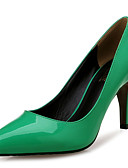 cheap Cocktail Dresses-Women's Shoes Patent Leather Spring / Fall Comfort Heels Stiletto Heel Pointed Toe Green / Party & Evening / Dress / Party & Evening