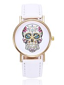 cheap Quartz Watches-Women's Wrist Watch Quartz Casual Watch Skull PU Band Analog Casual Skull Unique Creative Watch Black / White / Blue - Pink Khaki Light Green One Year Battery Life / Jinli 377