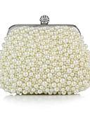 cheap Fashion Headpieces-Women's Bags Silk Evening Bag Pearls White / Black / Beige