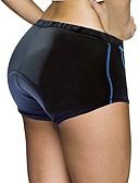 billige Dametrusser-ILPALADINO Dame Cykel-indershorts Cykel Forede shorts 3D Måtte, Hurtigtørrende, Anatomisk design Ensfarvet Spandex, Lycra Bule / Sort