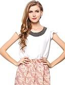 baratos Blusas Femininas-Mulheres Blusa Moda de Rua Com Miçangas,Sólido