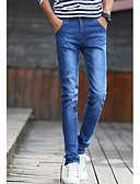 זול טרנינגים וקפוצ'ונים לגברים-בגדי ריקוד גברים כותנה ג'ינסים / צ'ינו מכנסיים אחיד