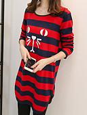 cheap Women's T-shirts-Women's Street chic Cotton T-shirt - Striped