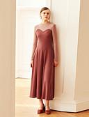 cheap Women's Dresses-MASKED QUEEN Women's Vintage Swing Dress - Color Block High Waist