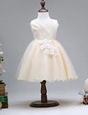 olcso Virágszóró kislány ruhák-Napi Alkalmi Pamut Műselyem Poliészter Egyszínű Kollázs Nyár Ujjatlan Lány Ruha Bájos Aktív Arany Bíbor