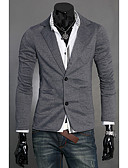 cheap Men's Sweaters & Cardigans-Men's Long Sleeves Cardigan - Solid Color V Neck