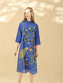 cheap Women's Dresses-8CFAMILY Women's Vintage Chinoiserie Loose Dress - Floral, Flower Stand