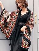 זול צעיפים אופנתיים-מלבן - בוהמי, כותנה בגדי ריקוד נשים