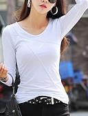 tanie Koszula-T-shirt Damskie Casual Bawełna Solidne kolory