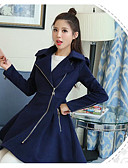preiswerte Damenmäntel und Trenchcoats-Damen - Solide Mantel, Hemdkragen